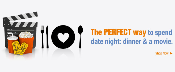 The perfect way to spend date night: dinner & movie
