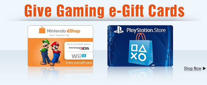 Give Gaming e-Gift Cards