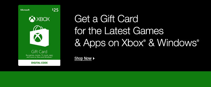 Get a Gift Card for the Latest Games & Apps on Xbox & Windows