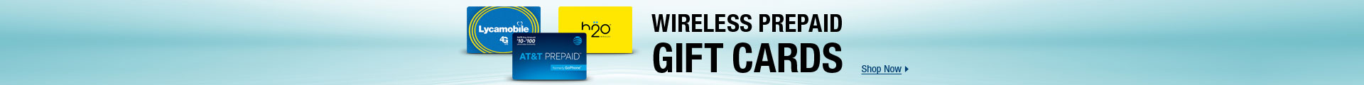 Wireless Prepaid Gift Cards