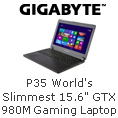 "P35 World's Slimmest 15.6"" GTX Gaming Laptop"