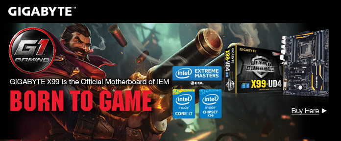 GIGABYTE X99 Is the Official Motherboard of IEM