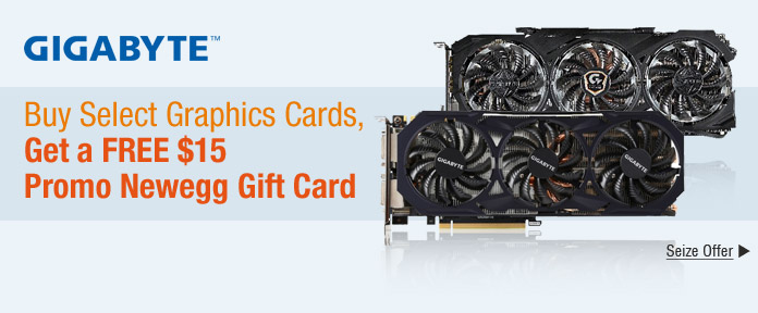 Buy Select Graphics Cards, Get a Free $15 Promo Newegg Gift Card