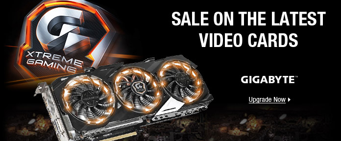 Sale on the latest video cards