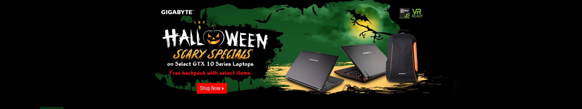 Halloween scary specials on GTX 10 series laptops