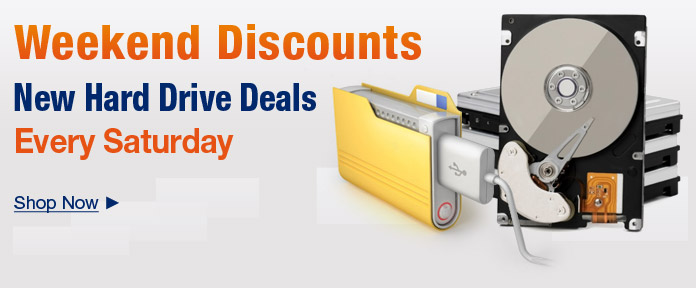 New Hard Drive Deals Every Saturday