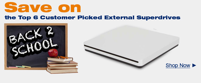 Save on Top 6 Customer Picked External Superdrives