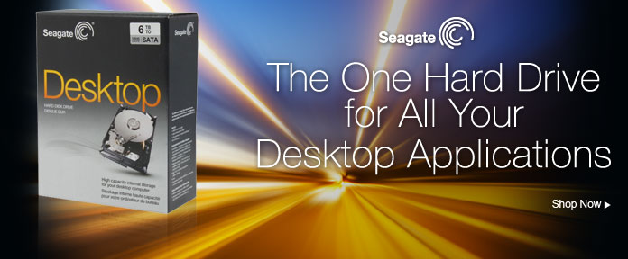 Seagate - The One Hard Drive for All Your Desktop Applications