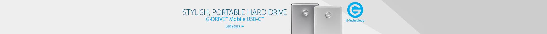 Stylish, portable hard drive