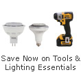 Save now on tools and lighting essentials