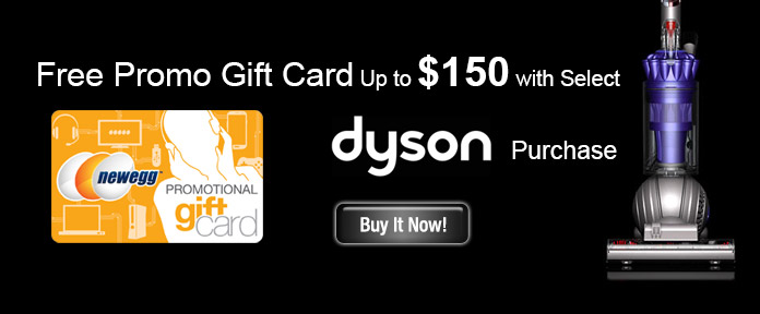 Free Promo Gift Card up to $150 with Select Dyson Purchase