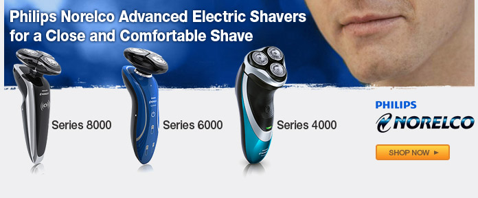 Philips Norelco advanced electric shavers