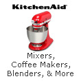 KitchenAid, Mixers, Coffee Makers, Blenders, and More