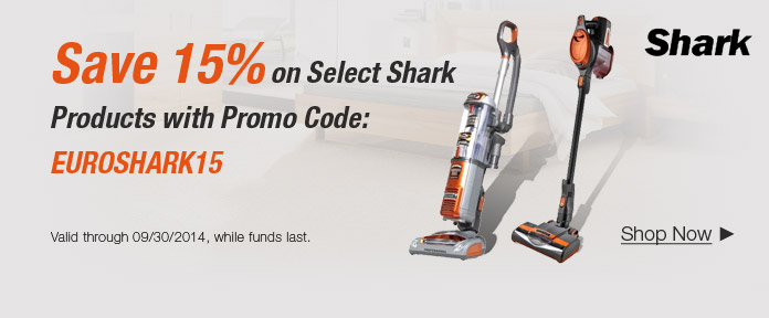 Save 15% on Select Shark Products with Promo Code
