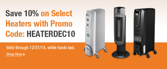 Save 10% on select Heaters with promo code