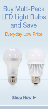 Buy multi-pack LED light bulbs and save