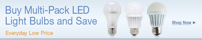 Buy Multi-Pack LED LightBulbs & Save