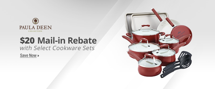 $20 Mail in Rebate with Select Cookware Sets