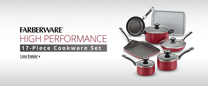FARBERWARE: HIGH PERFORMANCE, 17-Piece Cookware Set