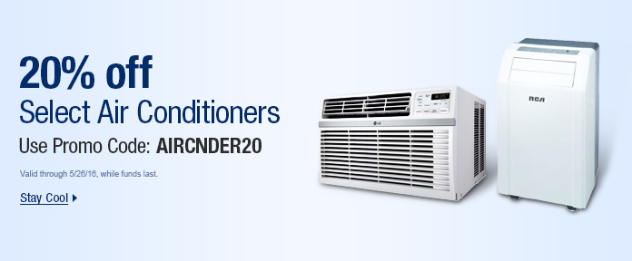 20% off Select Air Conditioners