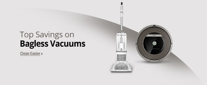 Top Savings on Bagless Vacuums