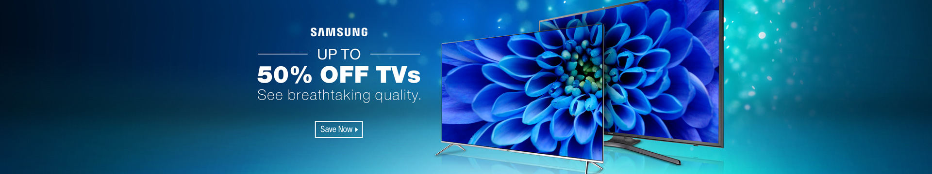 Up to 50% off TVs