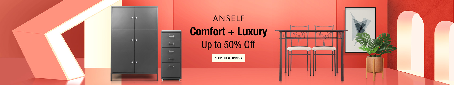 Comfort + Luxury Up to 50% off