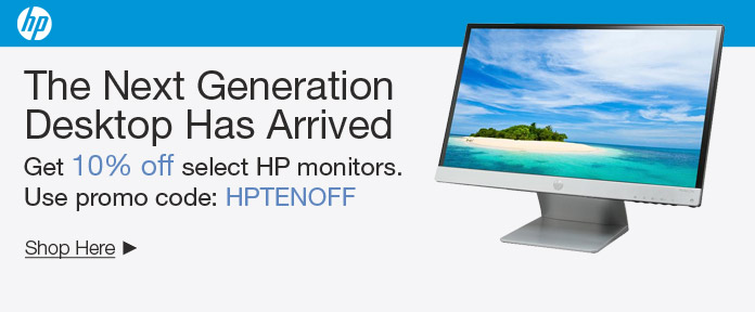 10% off select HP Monitors with promo code