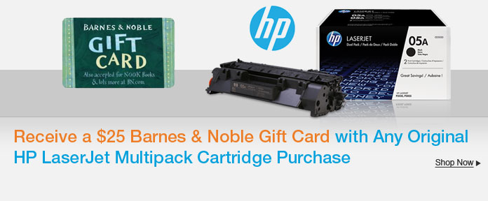 Get a $25 Barnes & Noble Gift Card with Select Purchase