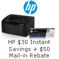 HP $30 Instant Savings + $50 Mail-in Rebate