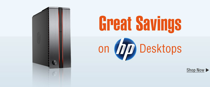 Great Savings on HP Desktops