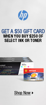 GET A $50 GIFT CARD WHEN YOU BUY $250 OF SELECT INK OR TONER
