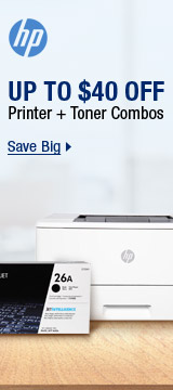 Up to $40 off Printer + Toner Combos