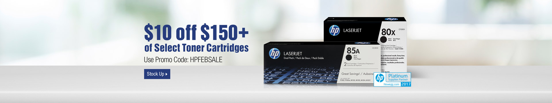 $10 off $150+ of Toner Cartridges