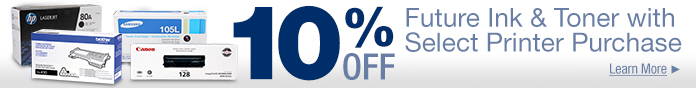10% off Future Ink&Toner w/ printer purchase