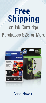 Free Shipping on Select Ink Cartridge Purchases $25 or More