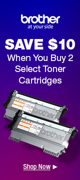 SAVE $10 When You Buy 2 Select Toner Cartridges