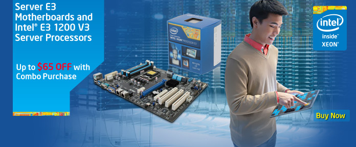 Server E3 Motherboards and Intel E3 1200 V3 Server Processors