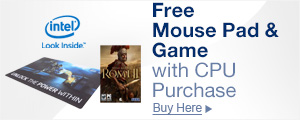 Free Mousepad & Game with Select CPU Purchase
