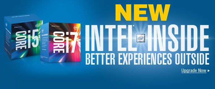 NEW Intel Inside.Better Experiences Outside