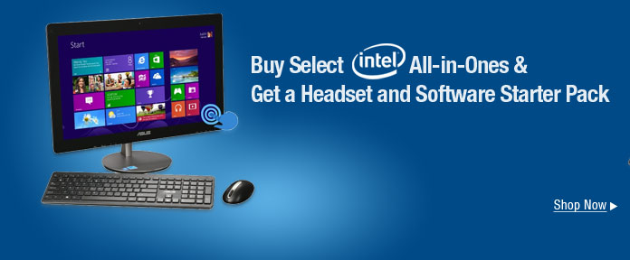 Buy select Intel all-in ones & Get a headset and software starter