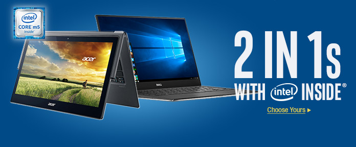 2-in-1s with Intel Inside choose yours