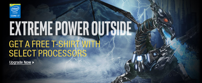Get a Free T-Shirt with Select Processors