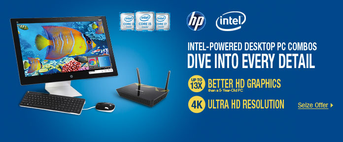 INTEL-POWERED DESKTOP PC COMBOS