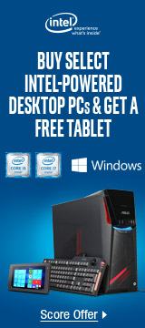 Buy Intel-Powered Desktop PCs Below & Get a Free Tablet
