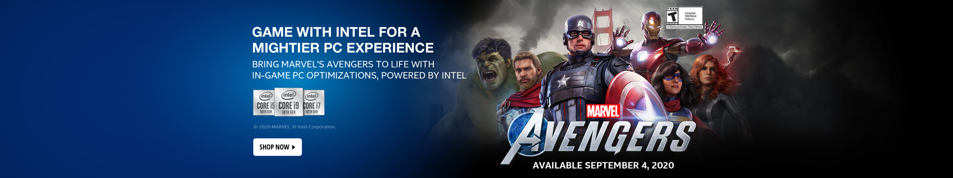 Intel Avengers 10th Gen Experience