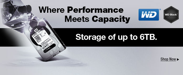 Storage of up to 6TB