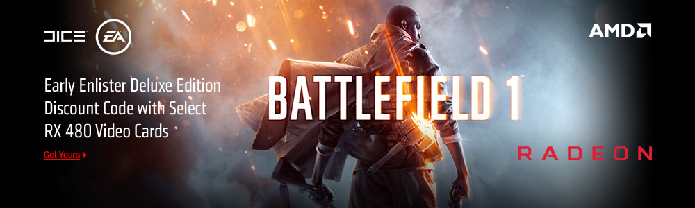 AMD battlefield 1 and RX 480 Game Offer