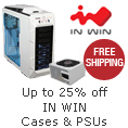 Up to 25% off in WIN cases & PSUs