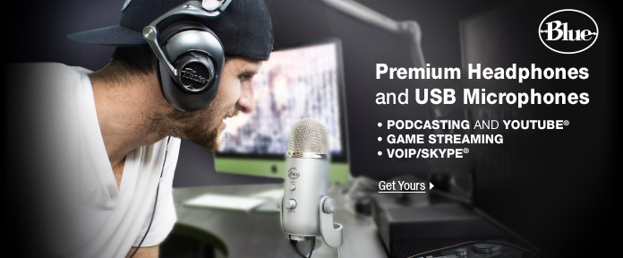 Premium headphones and USB microphones